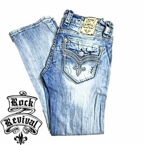 Rock Revival Mikael Straight Distressed Jeans